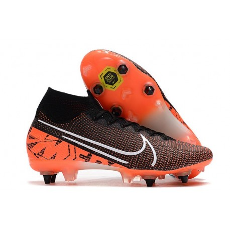 Nike Mercurial Superfly 7 Elite SG-Pro Black Orange White