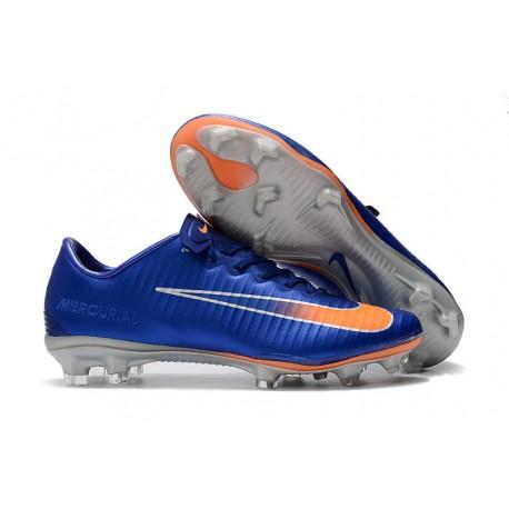 sports shoes a3338 9c46b Nike Mercurial Vapor XI FG Men Football Shoes - Blue Orange