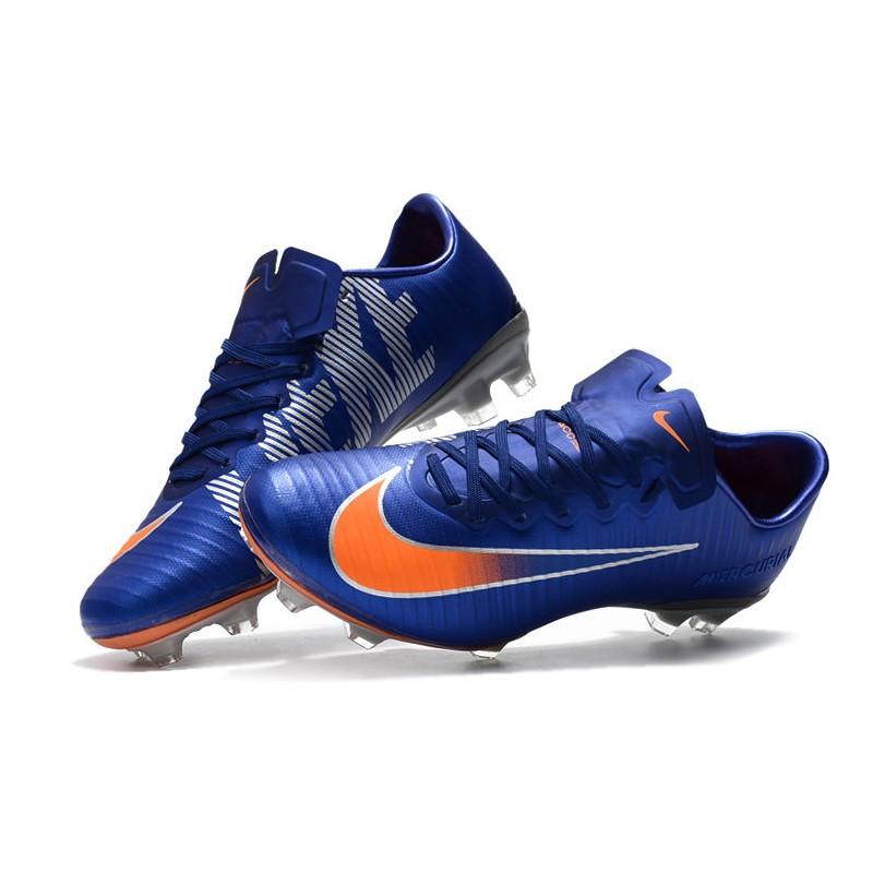 437dcf29e37 Nike Mercurial Vapor XI FG Men Football Shoes - Blue Orange