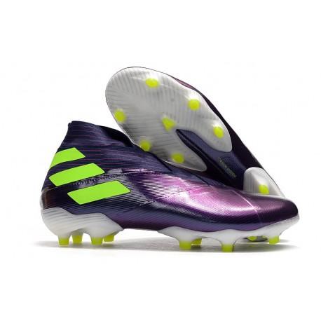 New adidas Nemeziz 19+ FG Shoes -Purple Green