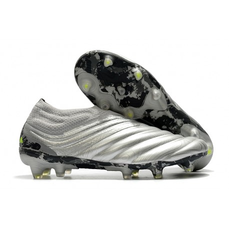 adidas Copa 20+ FG Leather Boots Silver Solar Yellow