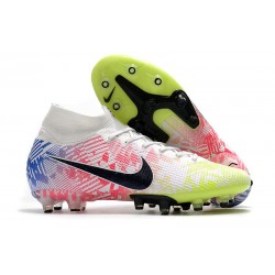 Nike Mercurial Superfly VII Elite AG-Pro Neymar White Black Blue Volt