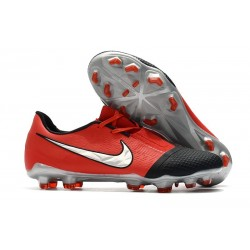 Nike Phantom VNM Elite FG Cleat -Laser Crimson Metallic Silver Black