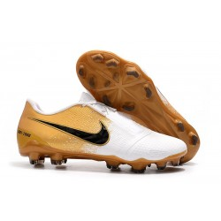 Nike Phantom VNM Elite FG Cleat -Gold White Black