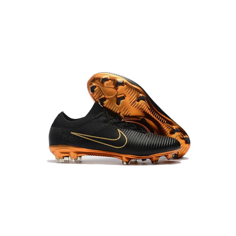 buy popular 70f56 99e59 Nike Mercurial Vapor Flyknit Ultra FG Firm Ground Boots - Black Gold