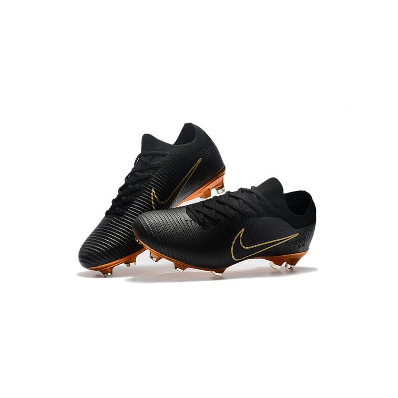 3d7a9f4513b1d Nike Mercurial Vapor Flyknit Ultra FG Firm Ground Boots - Black Gold