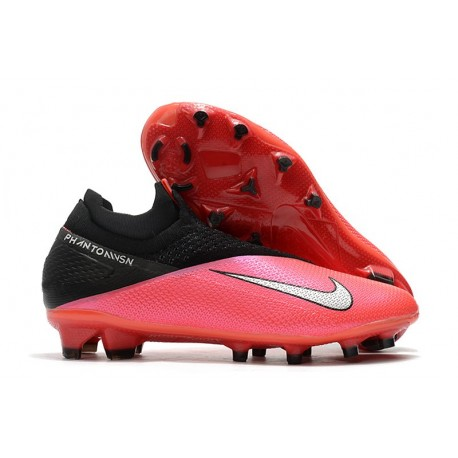 Nike Phantom VSN 2 Elite DF Boots Laser Crimson Metallic Silver Black