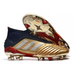 adidas Men's Predator 18+ FG Soccer Cleats - Gold Red
