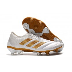 New adidas Copa 19.1 FG Soccer Shoes -White Gold