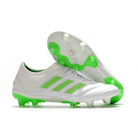 New adidas Copa 19.1 FG Soccer Shoes -White Solar Lime