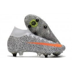 Nike Mercurial Superfly 7 Elite SG-Pro CR7 Safari - White Orange Black