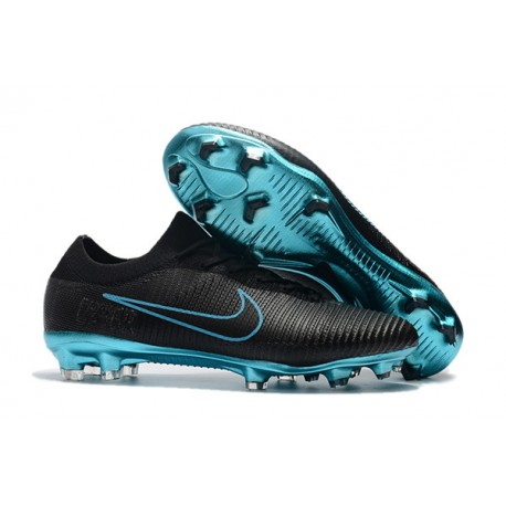 le dernier f5f43 8c3cc Nike Mercurial Vapor Flyknit Ultra FG Firm Ground Boots - Black Blue