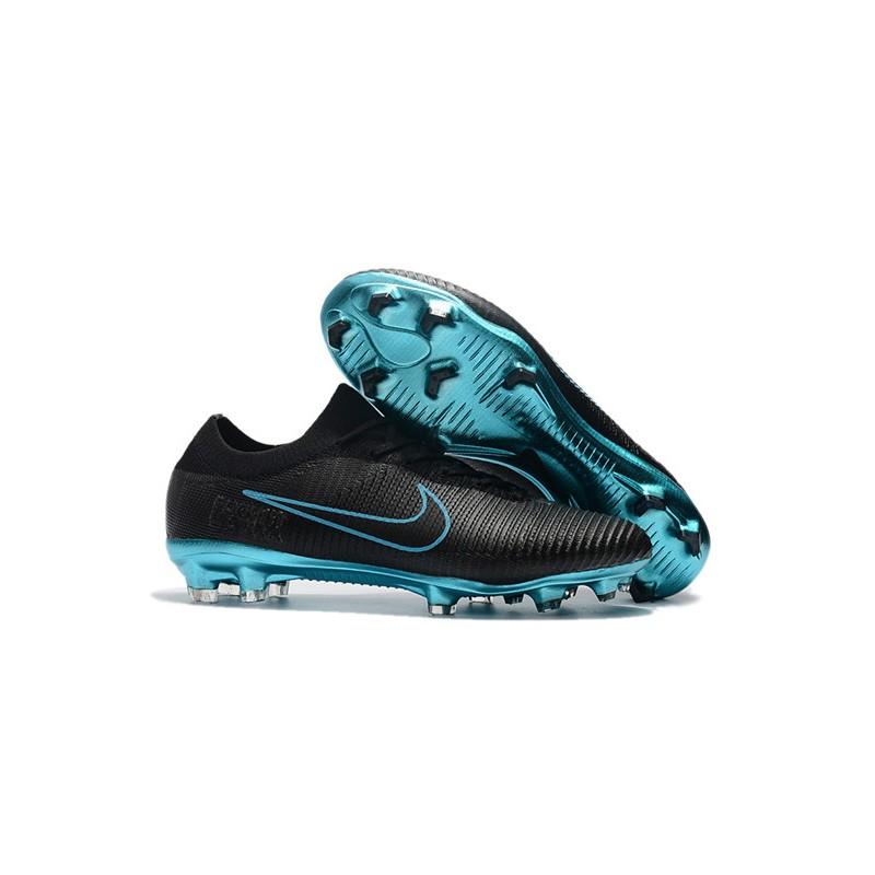 the latest 3d3a5 9263e Nike Mercurial Vapor Flyknit Ultra FG Firm Ground Boots - Black Blue