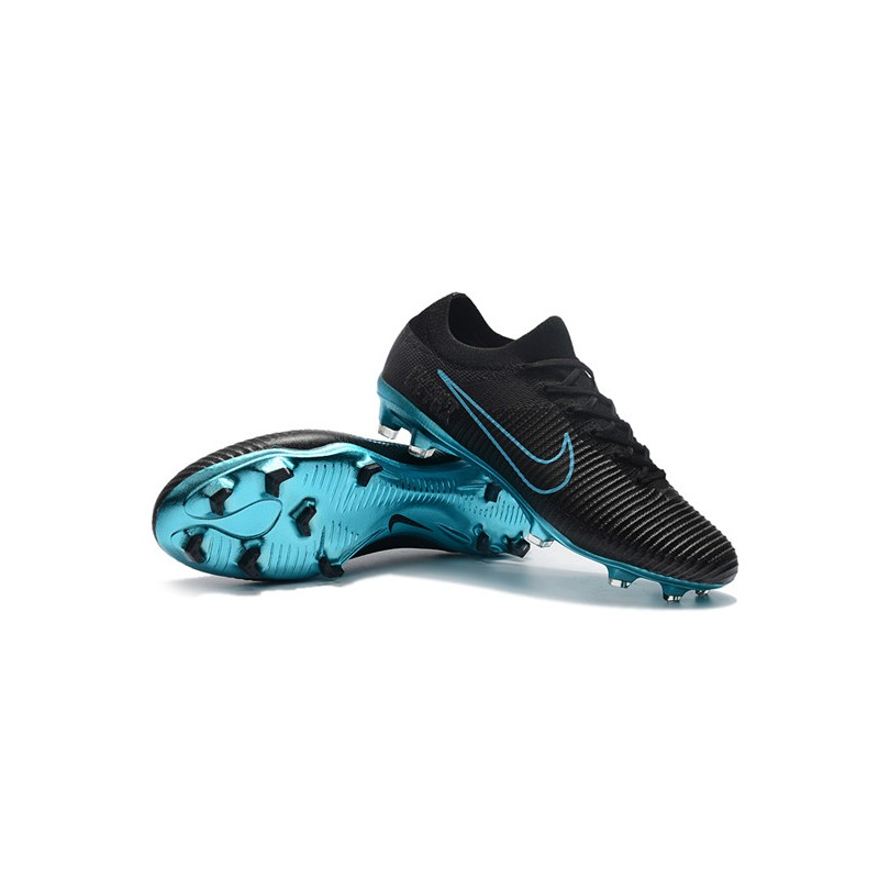 the latest c77dd 29f4f Nike Mercurial Vapor Flyknit Ultra FG Firm Ground Boots - Black Blue