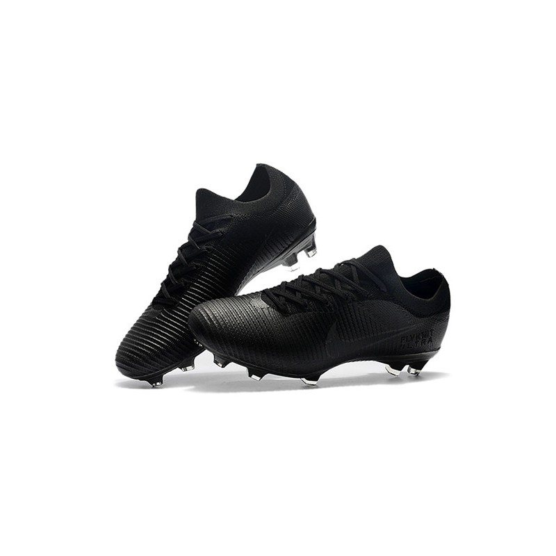 factory authentic 2906c c0880 Nike Mercurial Vapor Flyknit Ultra FG Firm Ground Boots - Full Black