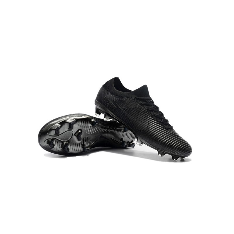 factory authentic c9609 ff859 Nike Mercurial Vapor Flyknit Ultra FG Firm Ground Boots - Full Black