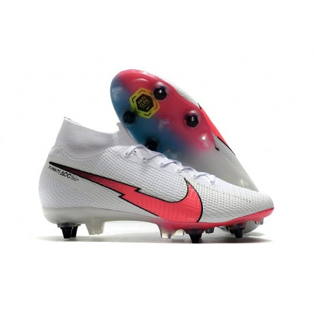New Nike Mercurial Superfly VII Elite SG-Pro AC White Red Blue