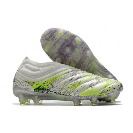 adidas Copa 20+ FG Leather FG Boots White Core Black Signal Green