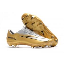 Nike Mercurial Vapor 11 FG Men's Soccer Boots - Gold White