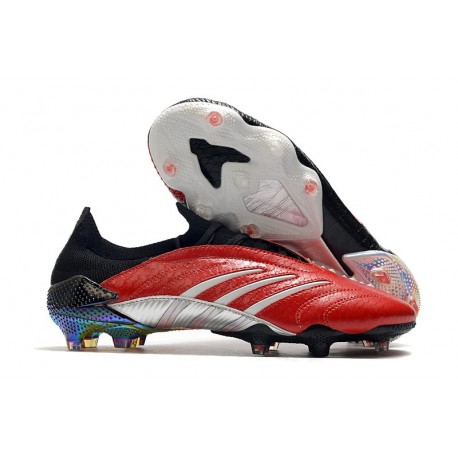 adidas Predator Archive Firm Ground Cleats Red Black Silver