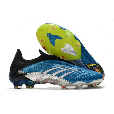 adidas Predator Archive Firm Ground Cleats Blue Black Silver