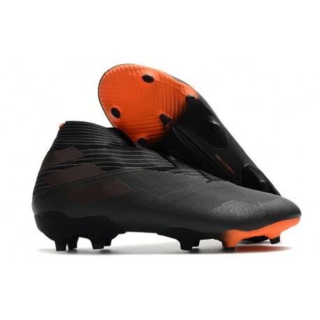 New adidas Nemeziz 19+ FG Shoes - Core Black Signal Orange
