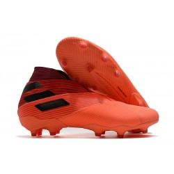 New adidas Nemeziz 19+ FG Shoes - Signal Coral Core Black Glory Red