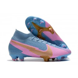 New Nike Mercurial Superfly VII Elite FG Blue Pink Gold