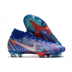 Nike Mercurial Superfly 7 Elite FG SE11 Sancho Blue White Red