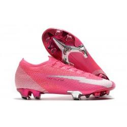 Nike 2020 Mercurial Vapor 13 Elite FG X Mbappe Pink Blast White Black