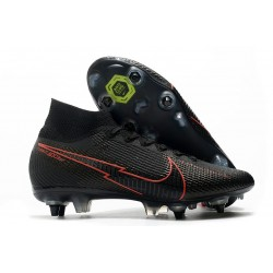 New Nike Mercurial Superfly VII Elite SG-Pro AC Black Red