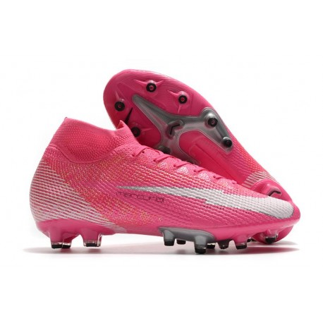 Nike Mercurial Superfly 7 Elite AG Mbappé Rosa - Pink Blast White Black