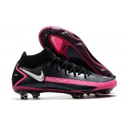 Nike Phantom Generative Texture GT DF Black Pink Blast Metallic Silver