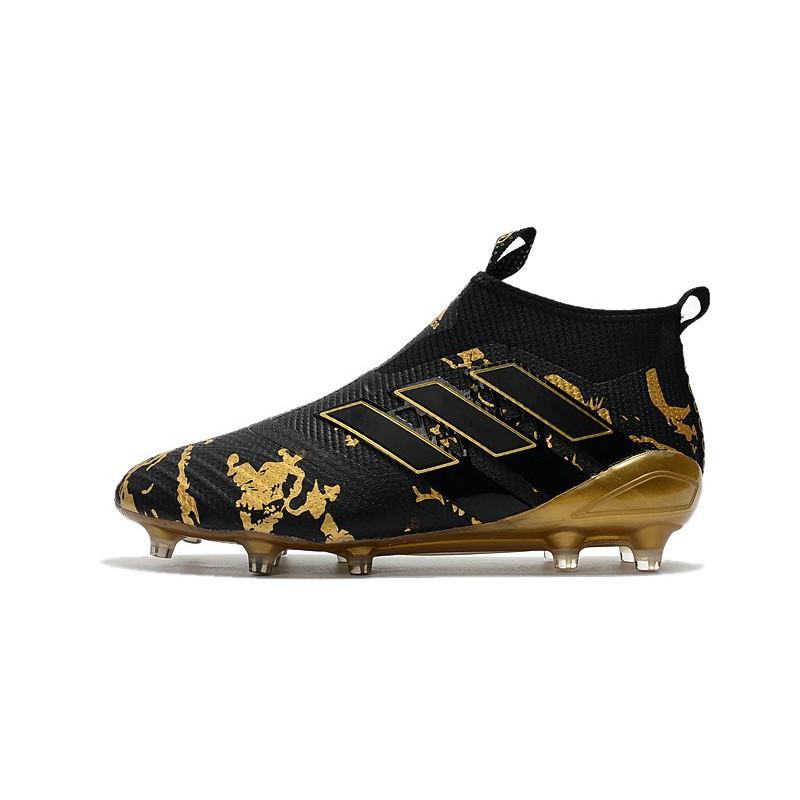 21014d730a10 Paul Pogba Capsule adidas ACE 17+ Purecontrol FG - Black Gold