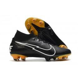 New Nike Mercurial Superfly VII Elite FG Leather Black White