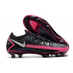 New Nike Phantom GT Elite FG Boots Black Pink Blast Metallic Silver