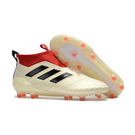 separation shoes 6c097 67ba6 adidas ACE 17+ Purecontrol FG Soccer Cleats - White Red Black