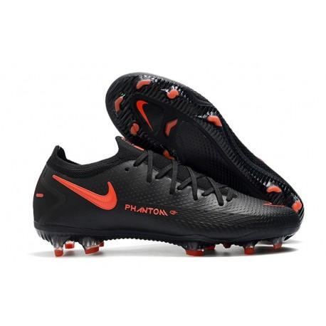 New Nike Phantom GT Elite FG Boots Black Dark Smoke Grey Chile Red