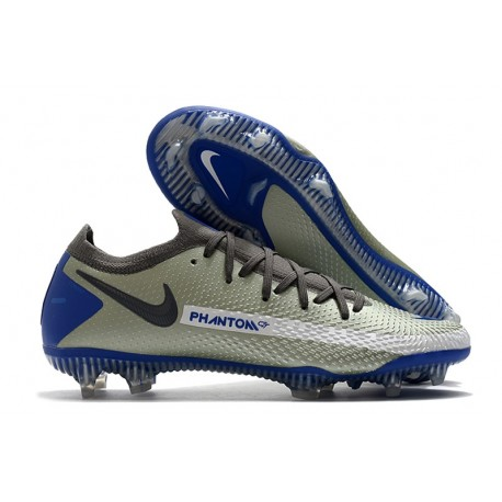 New Nike Phantom GT Elite FG Boots Grey Blue Black