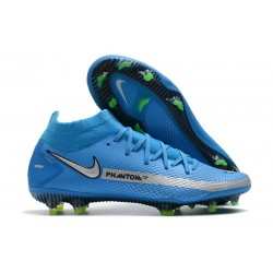 Nike Phantom GT Elite DF FG Firm Ground Blue Silver