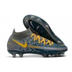Nike Phantom GT Elite DF FG Firm Ground Navy Grey Yellow