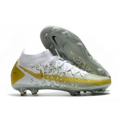Nike Phantom Generative Texture GT DF Boot White Gray Gold