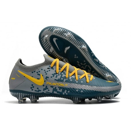 Nike Phantom GT Elite FG Firm-Ground Cleat Navy Gray Yellow