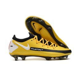 New Nike Phantom GT Elite FG Boots Yellow Black White