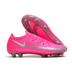 Nike Phantom GT Elite FG Firm-Ground Cleat Pink Silver