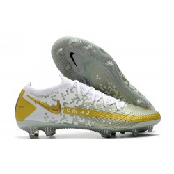 Nike Phantom GT Elite FG Firm-Ground Cleat White Gold