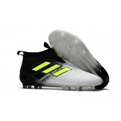 adidas ACE 17+ Purecontrol FG Soccer Cleats - Black White Yellow