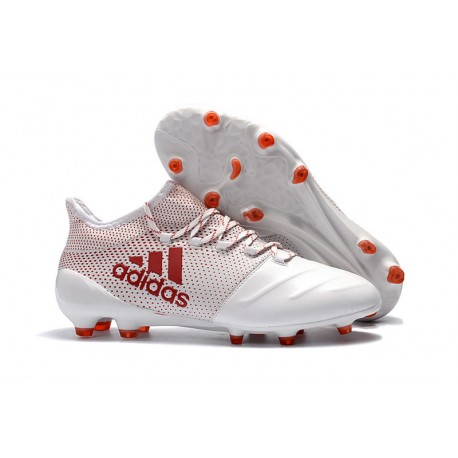 wholesale dealer 15662 b7a30 adidas ACE 17.1 Leather FG Soccer Boots White Red