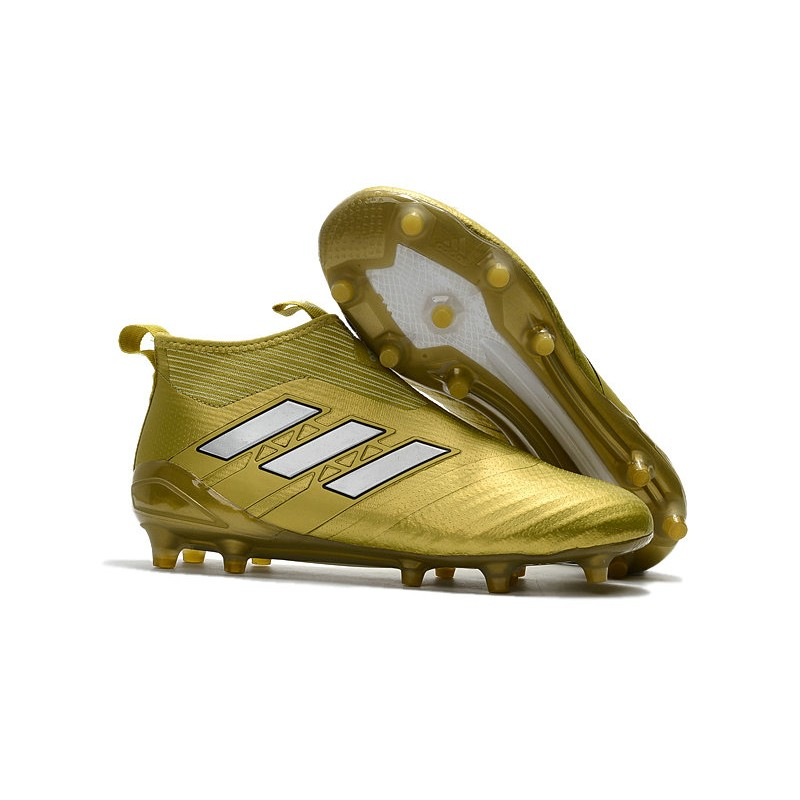 newest c842c 26aaa adidas ACE 17+ Purecontrol FG Soccer Cleats - Gold White