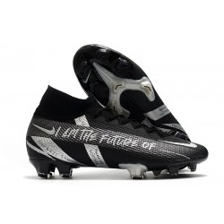 Nike Mercurial Superfly VII Elite DF FG Black Silver
